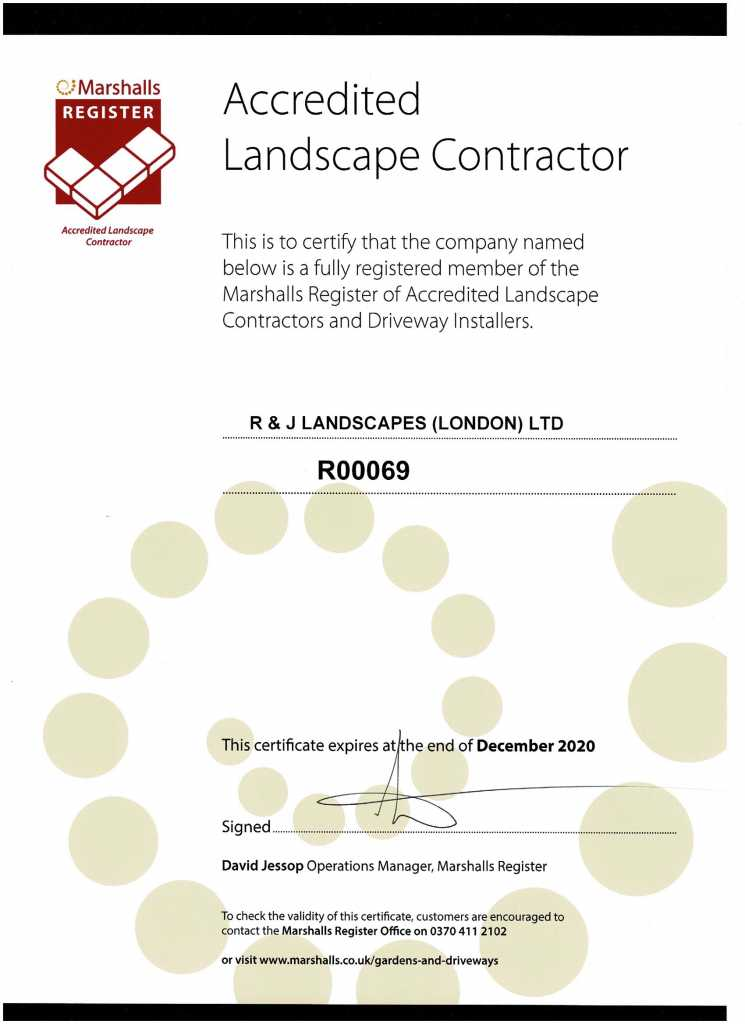 Marshalls Accredited Landscape Contrator